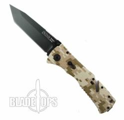 Find the SOG Trident TF12 with a black blade and camo grip at BladeOps.com.